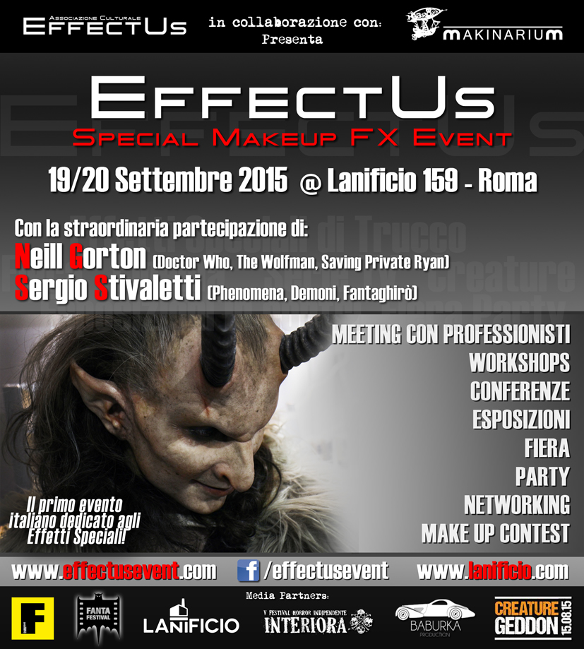 Studio13 presente al primo evento italiano di Special Makeup Effects