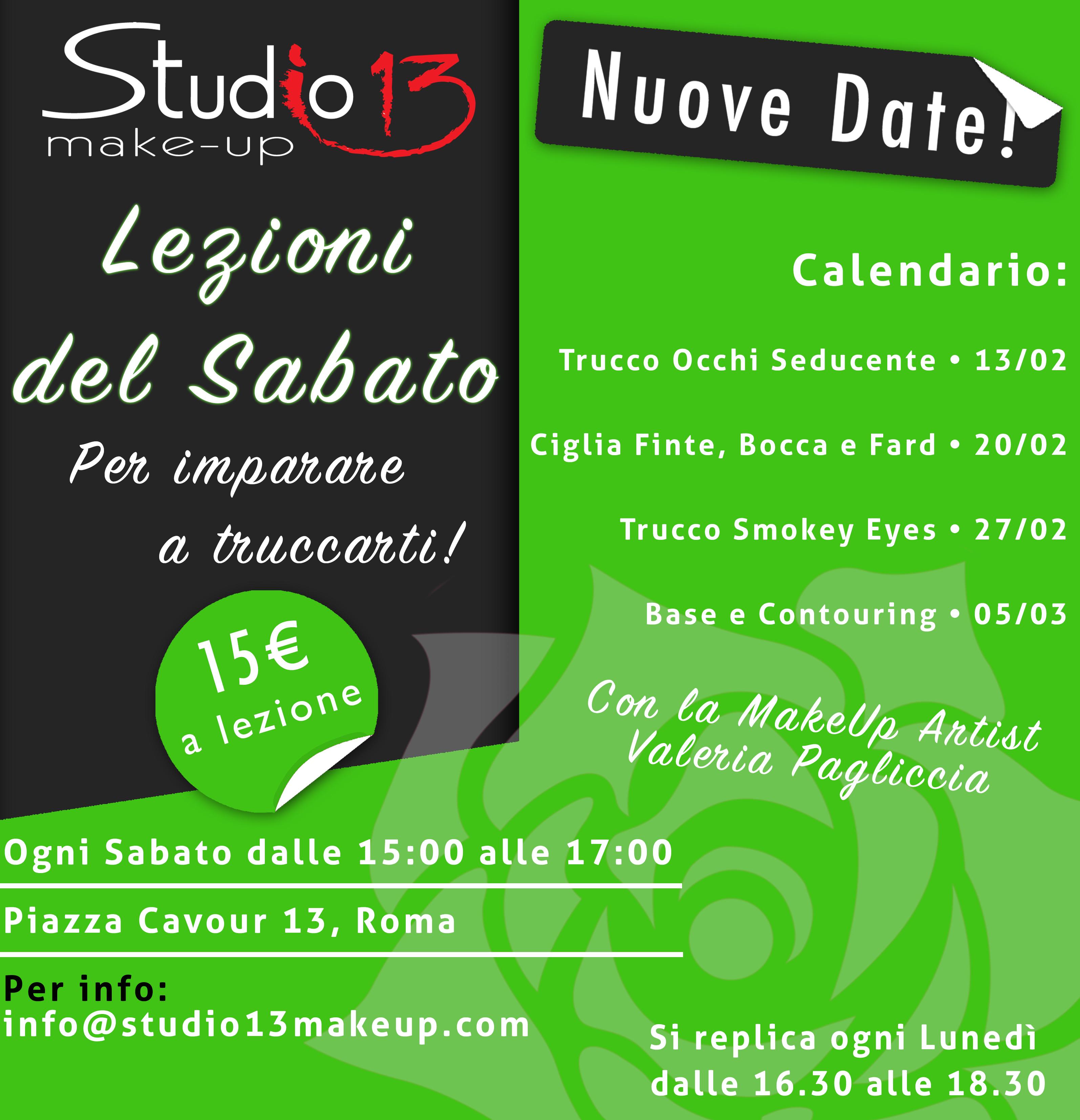 """Studio13 presenta le """"Lezioni del Sabato"""""""