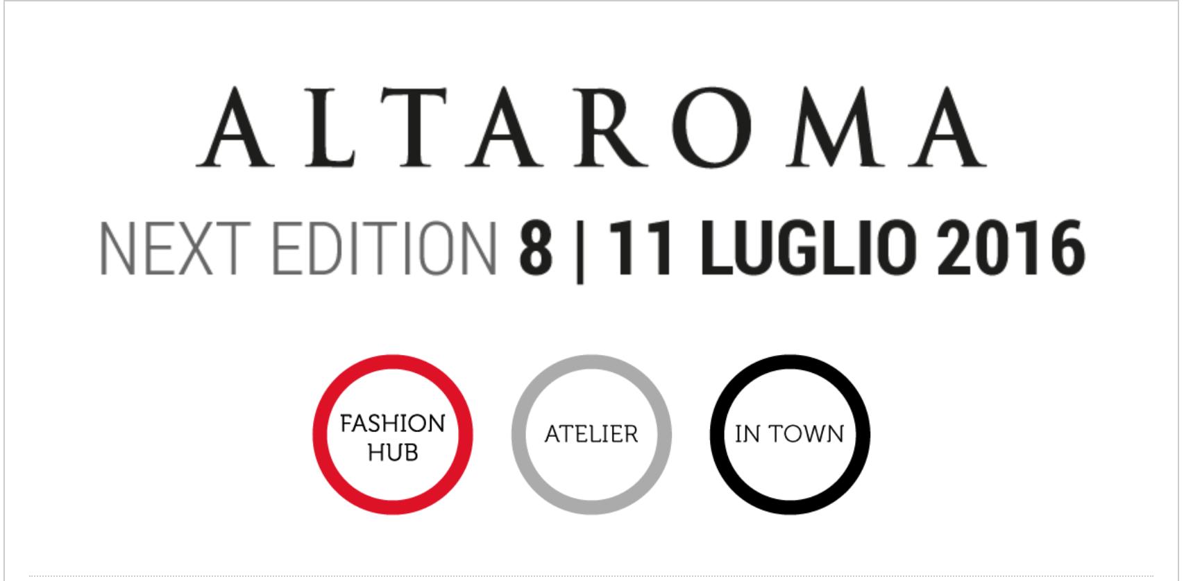 AltaRoma dall'8 all'11 Luglio. Studio13 immancabilmente presente.